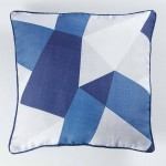 Coussin Passepoil polyester imprime Modele Square 40 x 40 cm