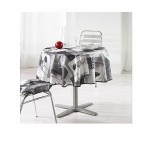 Nappe polyester Sommelier grise 180 cm