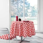 Nappe polyester Vichy Rouge 180 cm