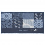 Tapis multi usage rectangle 57 x 115 CM Dalea bleu