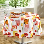 Nappe ronde 160 cm passion tulipes