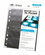 ULTIMATE GUARD 14-Pocket Compact Pages taille standard & Mini American Noir (10)
