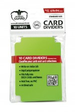 ULTIMATE GUARD 10 intercalaires pour cartes Card Dividers taille standard Vert Clair