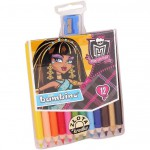 MONSTER HIGH - 12 crayons de couleur + taille crayon