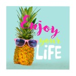 Lot de 20 serviettes en papier enjoy ananas