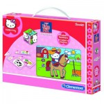 EDUKIT HELLO KITTY Jeu educatif Puzzle - Cubes - Domino - Memo