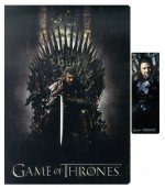 GAME OF THRONES Le Trône de Fer set cahier avec aimant marque-pages Ned On Throne