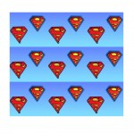 SUPERMAN Lot de deux magnets Logo