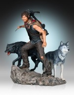 THE WALKING DEAD Statuette 1/8 Daryl & the Wolves 26 cm